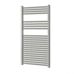 450mm Wide - 1200mm High Flat Chrome Heated Towel Rail Radiator