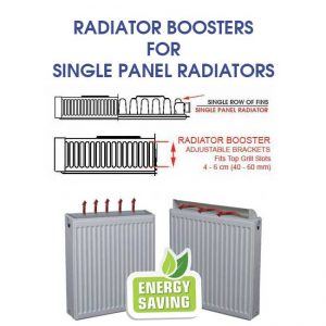 radiator boosters for single panel radiators