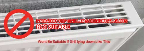 RADIATOR TOP GRILL WITH HORIZONTAL SLOTS