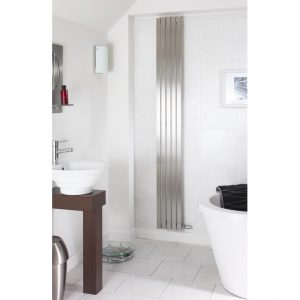 240mm Wide - 2300mm High Stainless Steel Flat Panel Designer Radiator