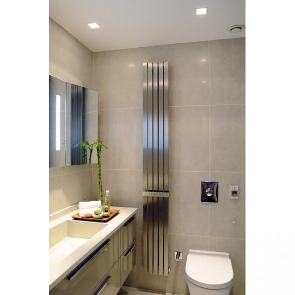240mm Wide - 2000mm High Stainless Steel Flat Panel Designer Radiator