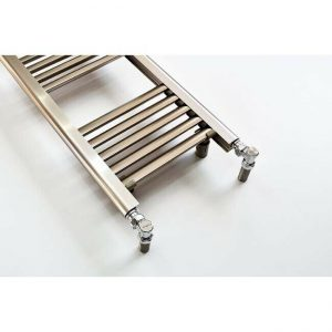 300mm Wide – 1200mm High Aluminium Eloksal Designer Heated Towel Rail Radiator with valves
